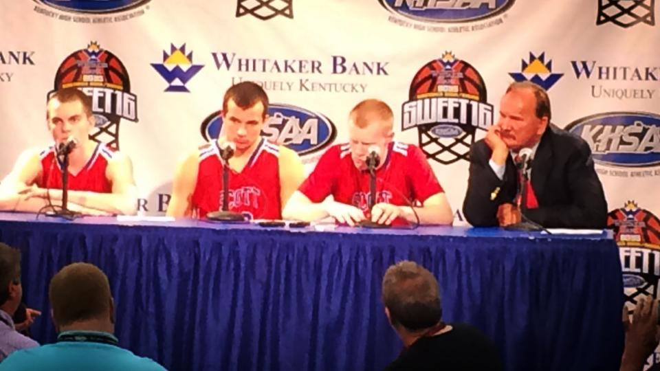 Scott County Press Conference after semi-final victory over Trinity