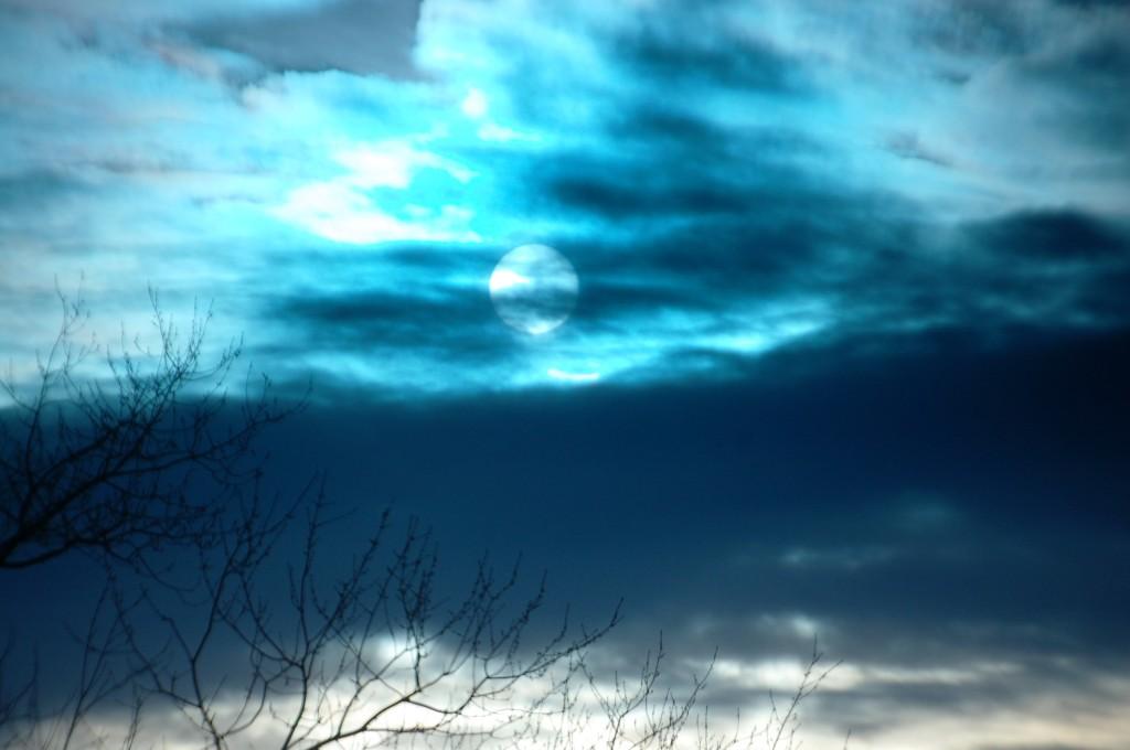Hidden Sun on a cloudy day in Lexington