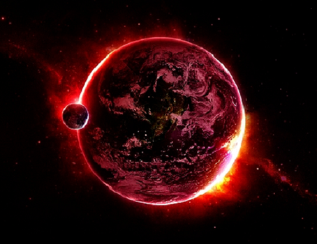 Artist's rendition of Planet X approaching Earth (source unknown)