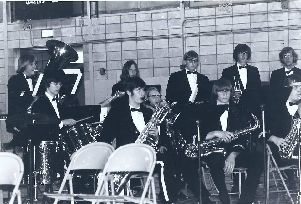Here I am in 1973 with the Bozeman High School Jazz Band