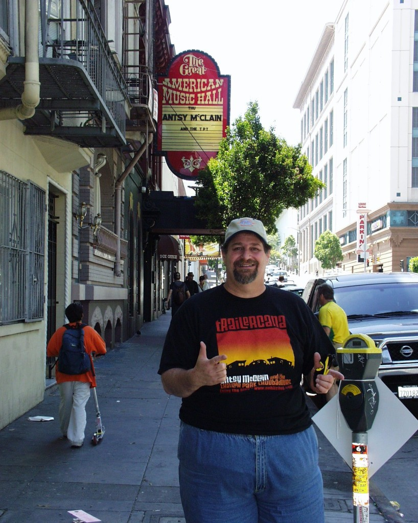 On tour with Antsy McClain in San Francisco around 2005