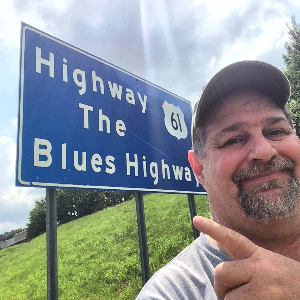Route 61, the Blues Highway in Mississippi in May 2014