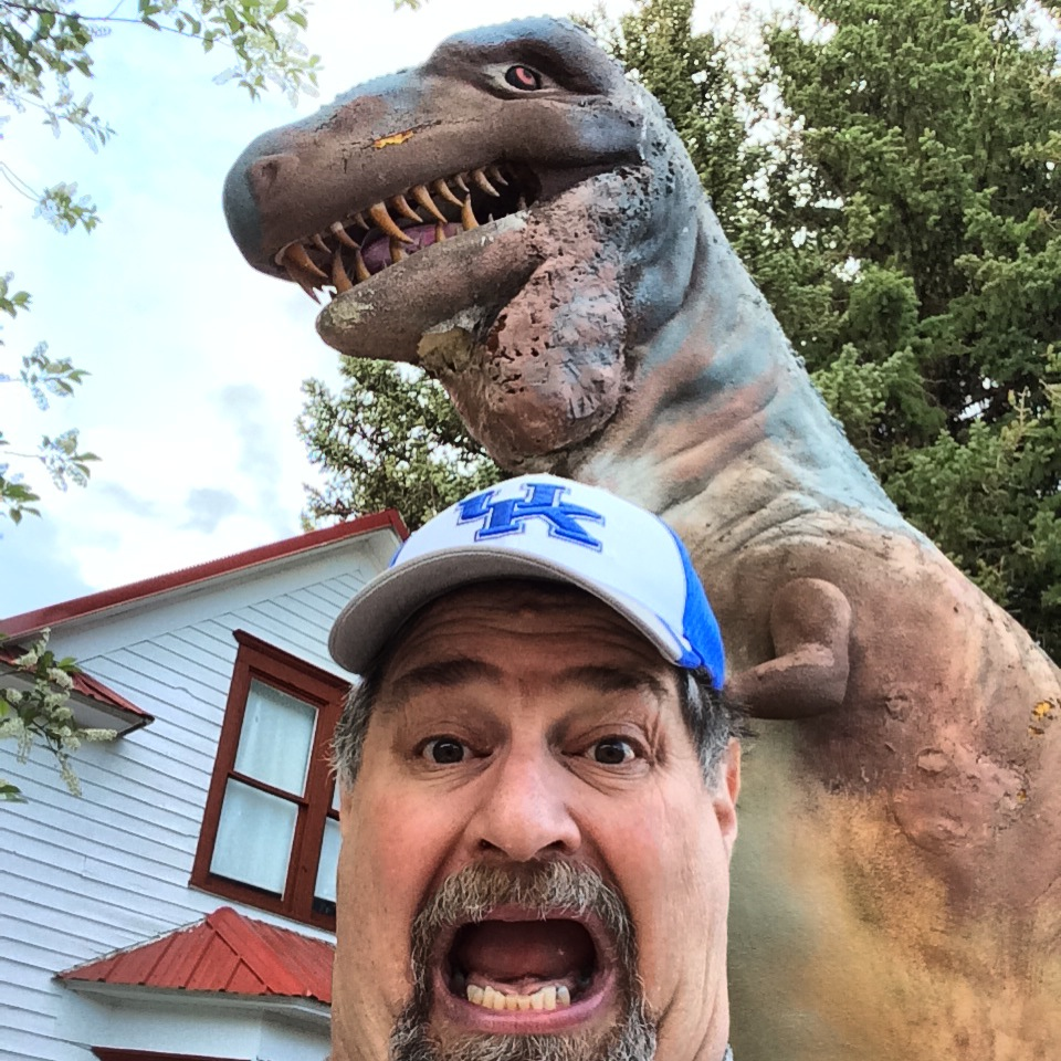 Escaping a T-Rex in Choteau, Montana in May 2014
