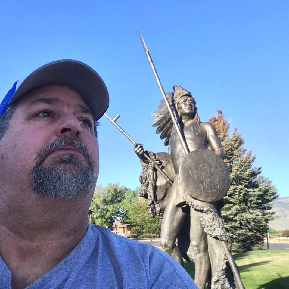 With Chief Washakie in Cody, Wyoming - May 2014
