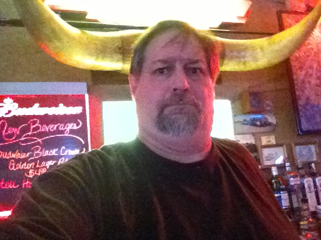 Bull headed at the Frontier Steak House in Dunkirk, Montana in March 2013