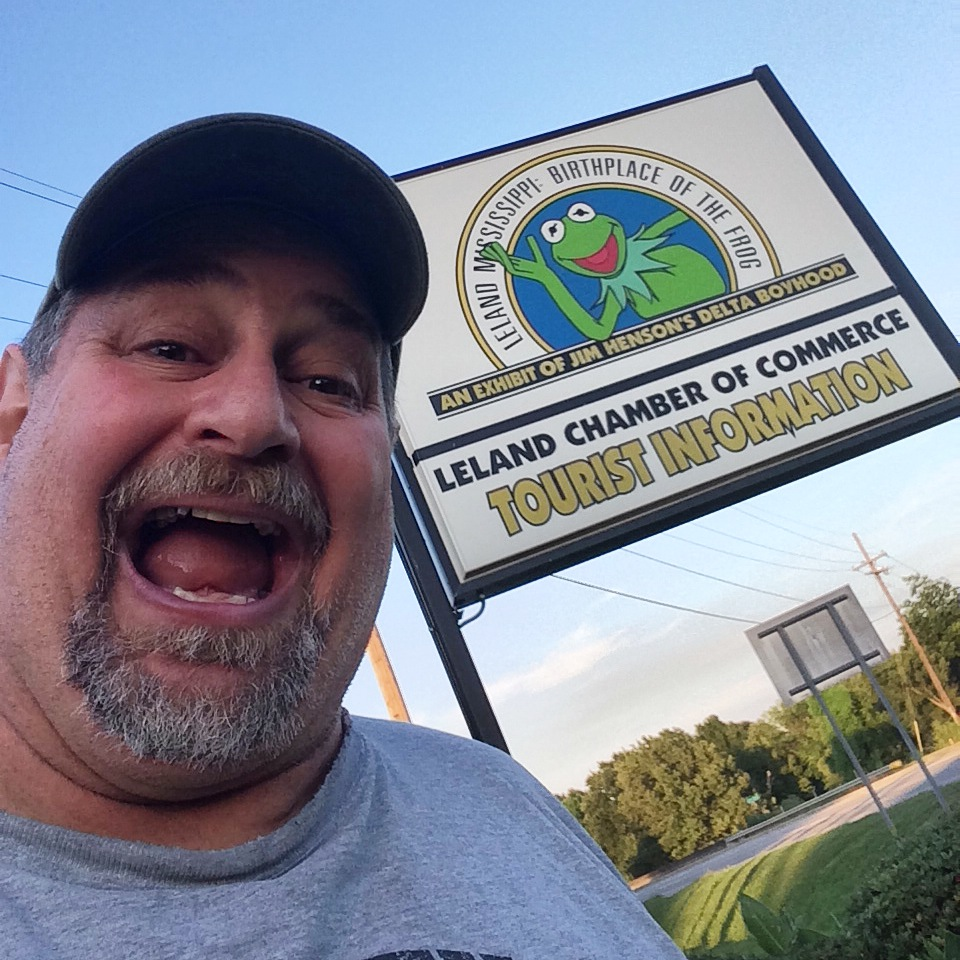 Naturally, I had to visit the birthplace of one of my favorite characters, Kermit the Frog, in Leland, Mississippi in June 2014
