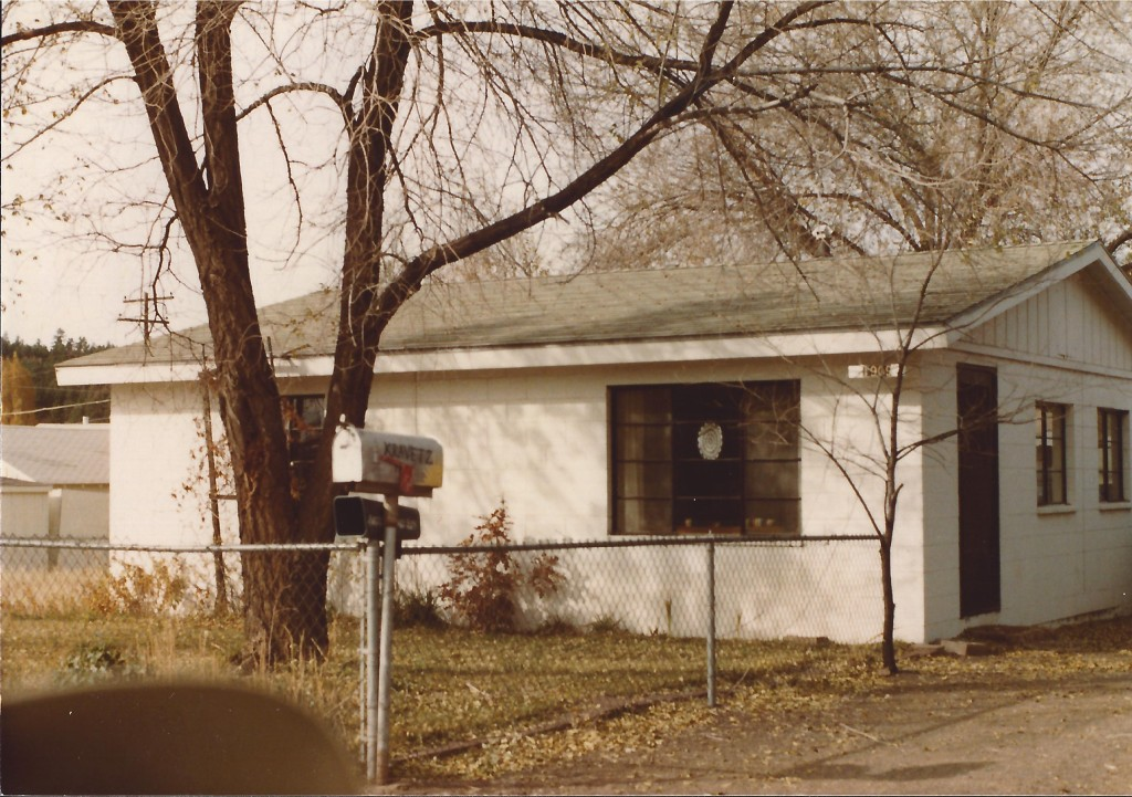 Our first rental house in Flagstaff, AZ ca 1980