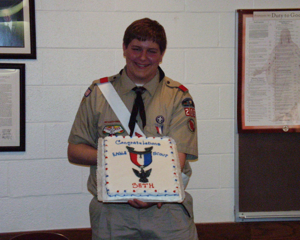 Seth at his Eagle Court of Honor