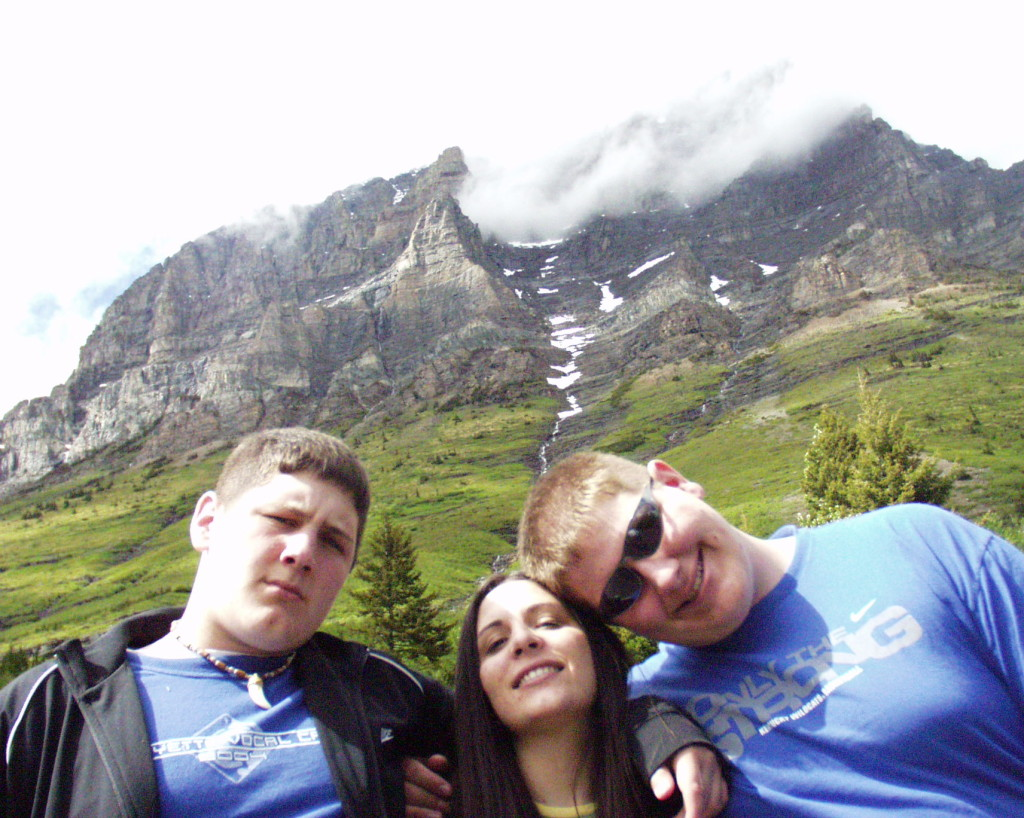 Solomon, Marissa and Seth at Glacier National Park in 2005