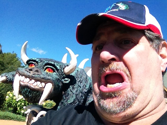 The Hodag and Sumoflam in Rhinelander, WI in August 2012