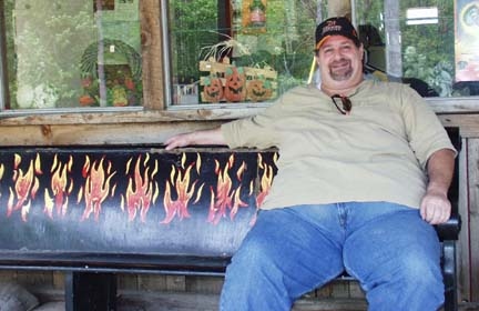 Sumoflam on the blazin' bench in Hell (Michigan that is)