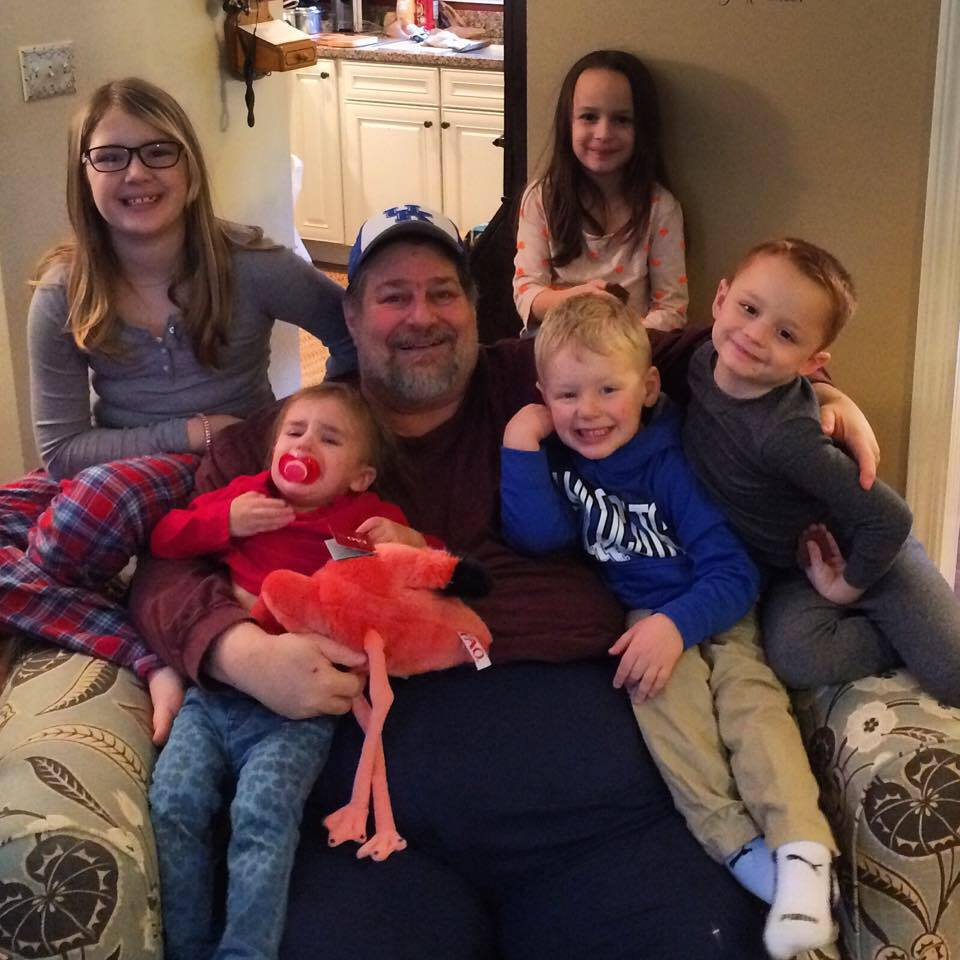 With 5 of the Grandkidz at Christmas 2014