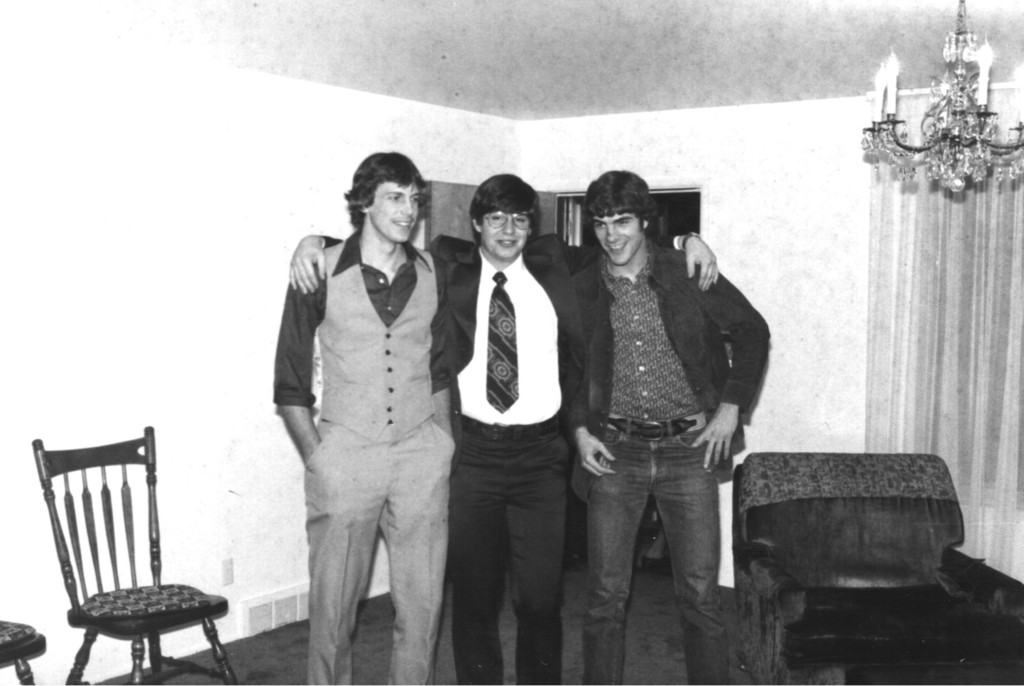 David and friends from church as I prepare to leave for my LDS Mission in Feb. 1975 (Murray, UT)