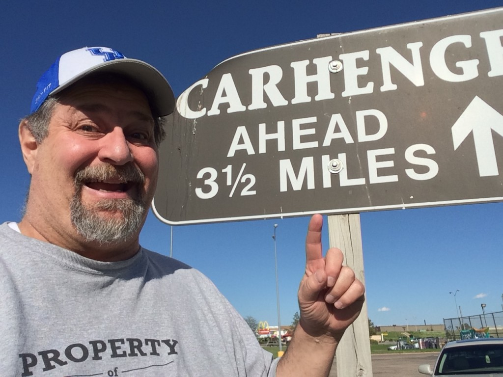 Visiting Carhenge in Alliance, NE