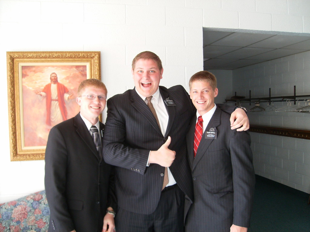 My son Seth on his mission in Salt Lake City...returning to the site of my baptism