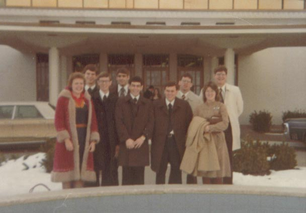 This is the group I spent two months with in Provo learning Japanese.  We all took the flight to Japan together. (ca. April 1976)