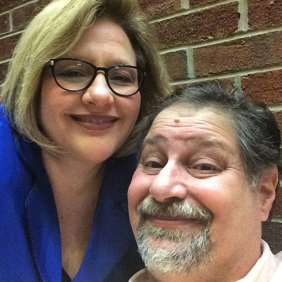 Pre-concert photo with my sweetheart as we waited to be let in to the auditorium
