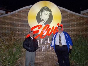 Russ and David in Memphis in January 2004