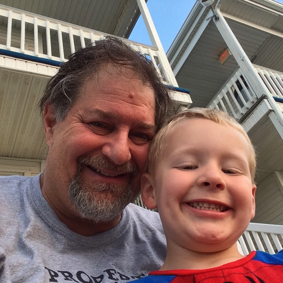 Hanging with Grampz at Old Orchard Beach in Maine, Sept. 2015