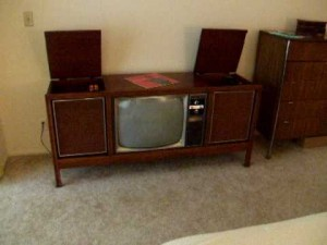 Color TV Console