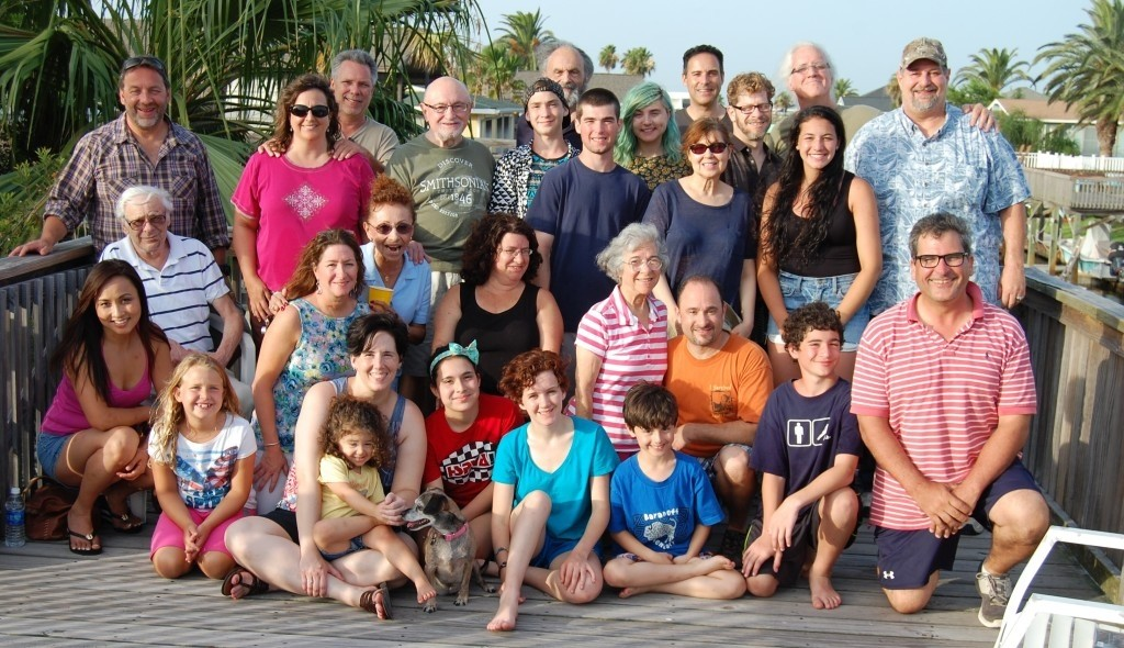 Kravetz family reunion in Houston in 2014...with Uncles and Cousins....