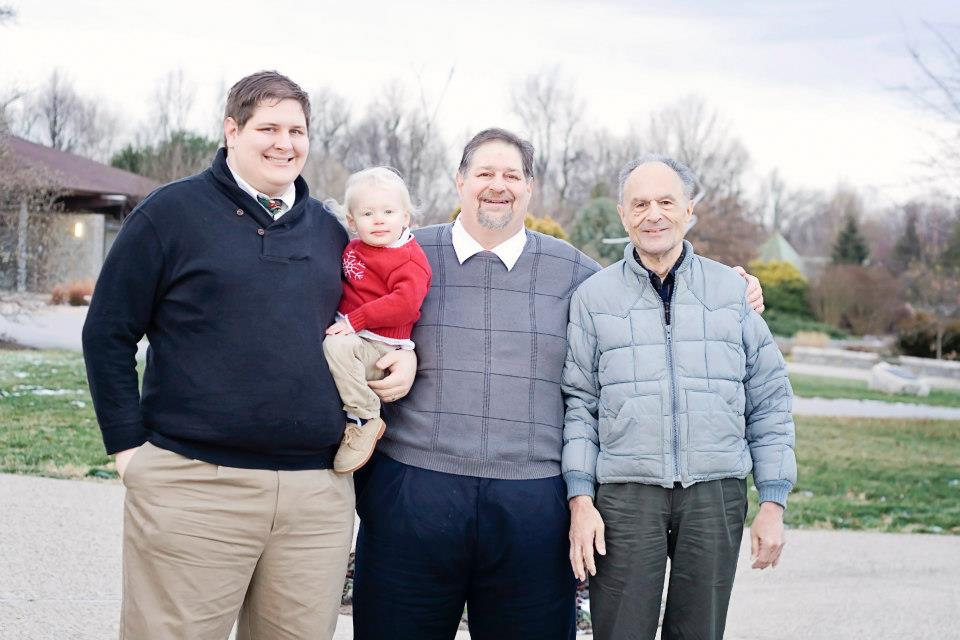 Four generations of Kravetz...a rare photo - Seth, Rockwell, David and Joe... Dec. 2012