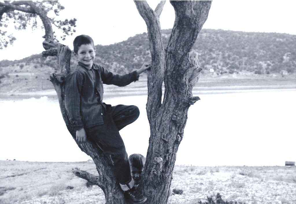 Stylishly climing a tree in 1963 or 1964