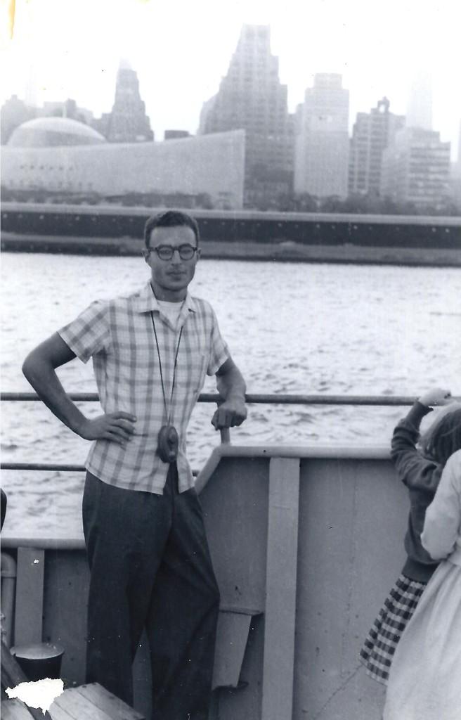 Joe Kravetz on a visit to New York ca. 1959