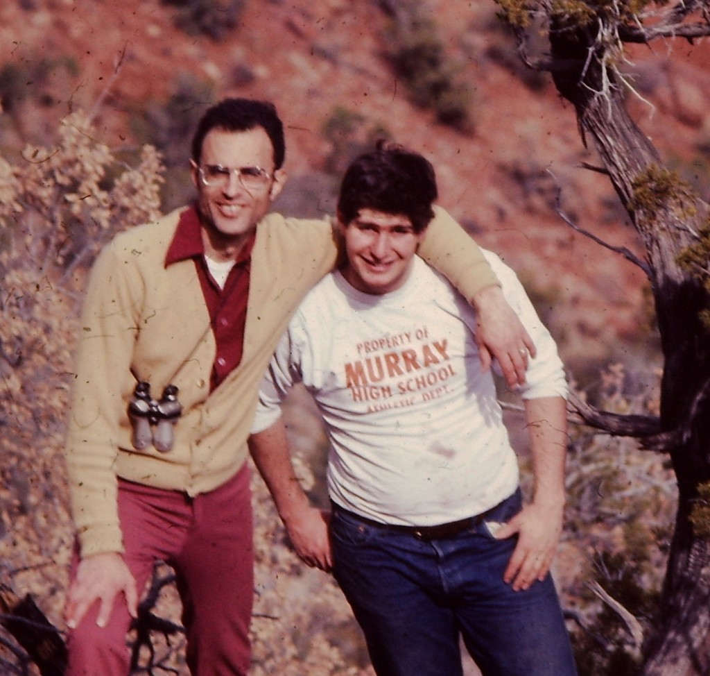 Dad and me on a hike in the Jemez Mountains in New Mexico in 1978, shortly after I returned from my LDS Mission to Japan