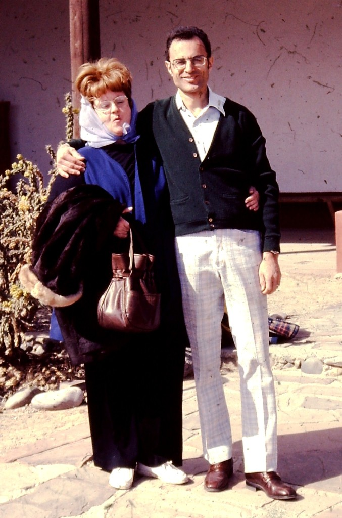 Joe and Marge in 1978 in Jemez Springs, NM. By this time they were divorced but posed for this photo.