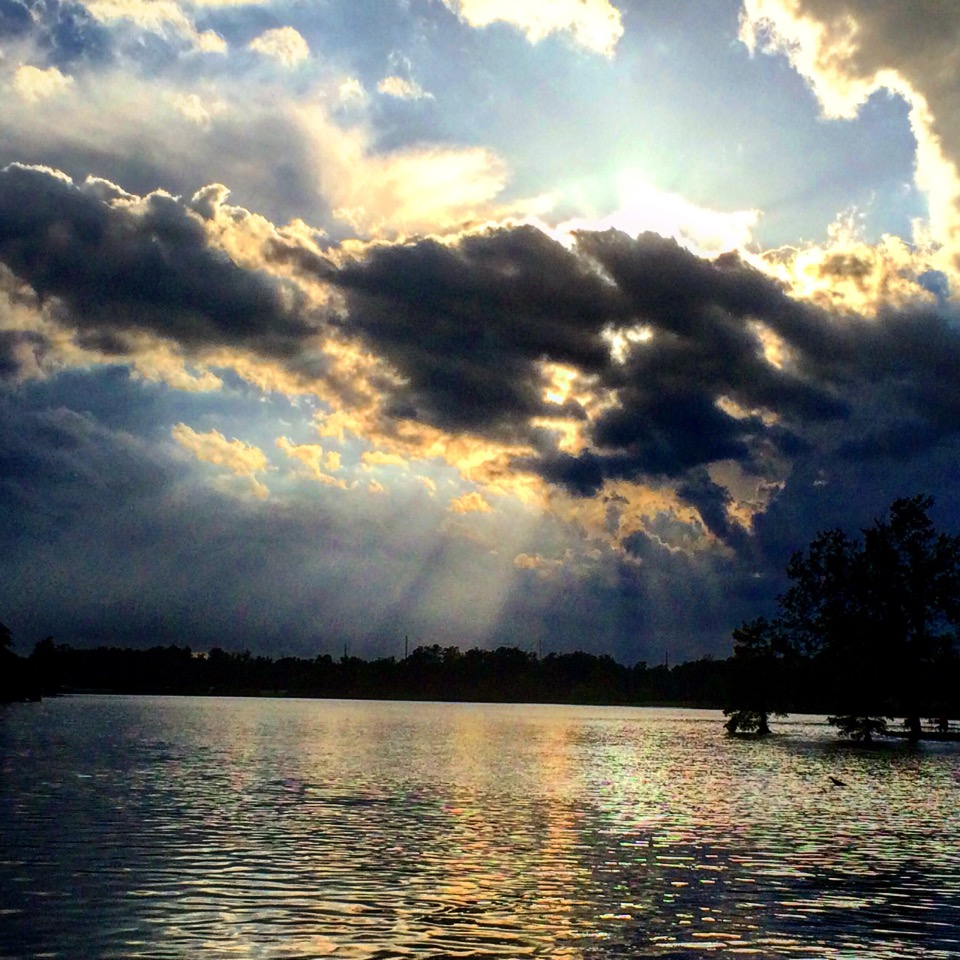 Sunburst over Jacobson Lake