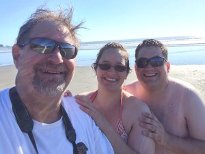 Hanging with daughter Amaree and her husband Aaron in Washington, Aug 2015