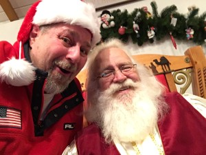 Sumoflam with Santa Claus in Santa Claus, IN