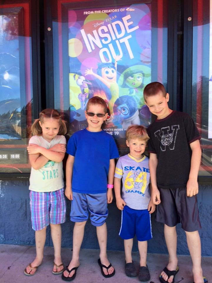 "She and her brothers turn their Mom ""Inside Out"""